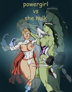 Power-Girl-vs-She-Hulk-nip-slip-costume-tear