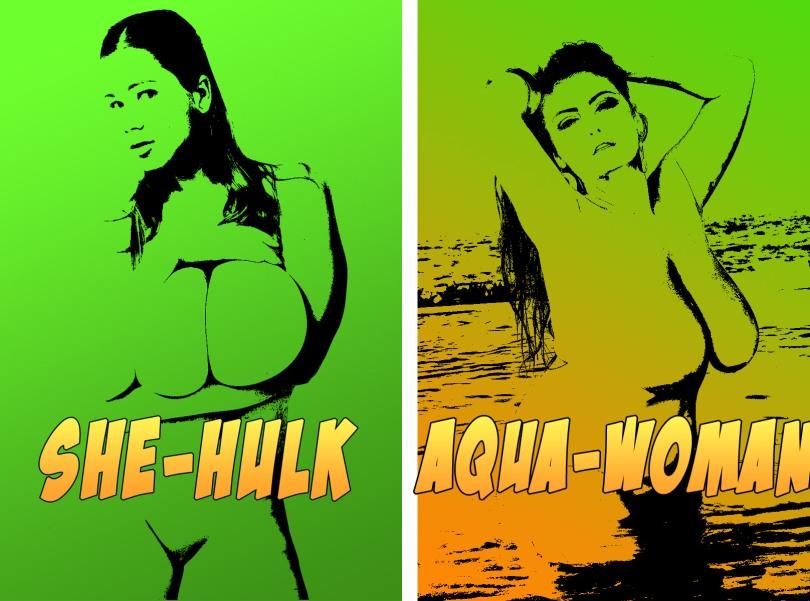 She-Hulk vs Aqua-woman