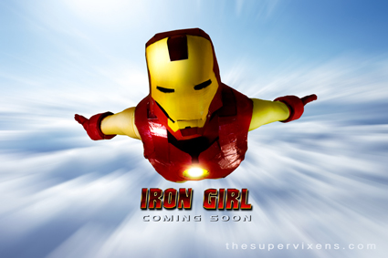 Iron Girl flying