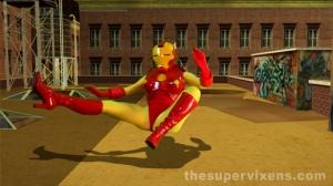 Iron Girl falling