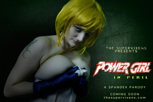 Power Girl boobs out!
